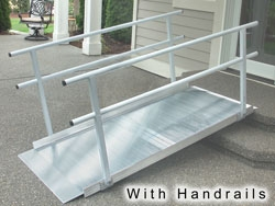 ez access pathway wheelchair ramps with handrails classic series